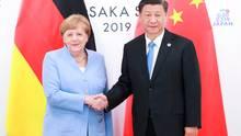 Angela Merkel und ChinasStaatspräsident Xi Jinping hatten sich jüngst auch auf dem G20-Gipfel Ende Juni in der japanischen Metropole Osaka getroffen