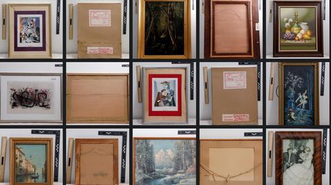 Einige der wiedergefundenen Kunstwerke aus Los Angeles