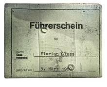 Foto eines alten Führerscheins