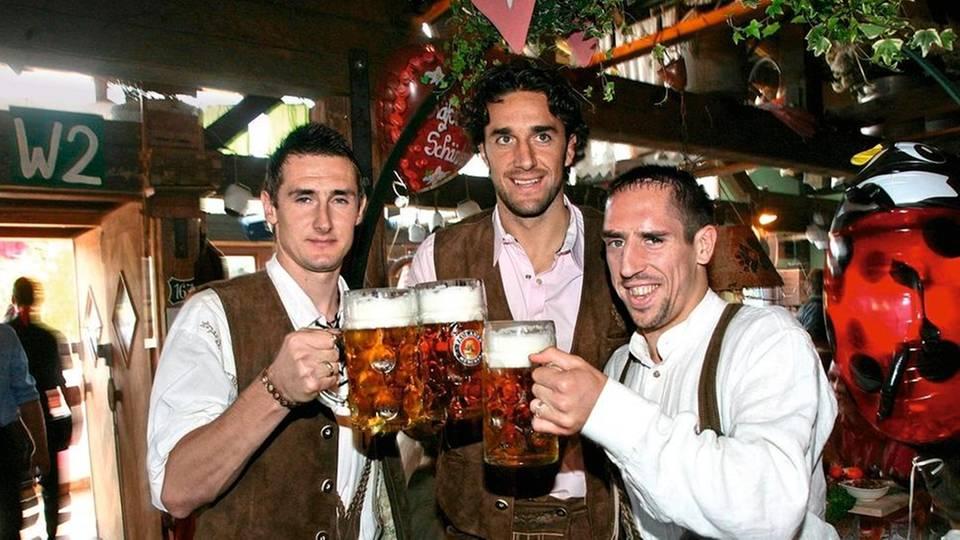 Miroslav Klose, Luca Toni und Franck Ribéry