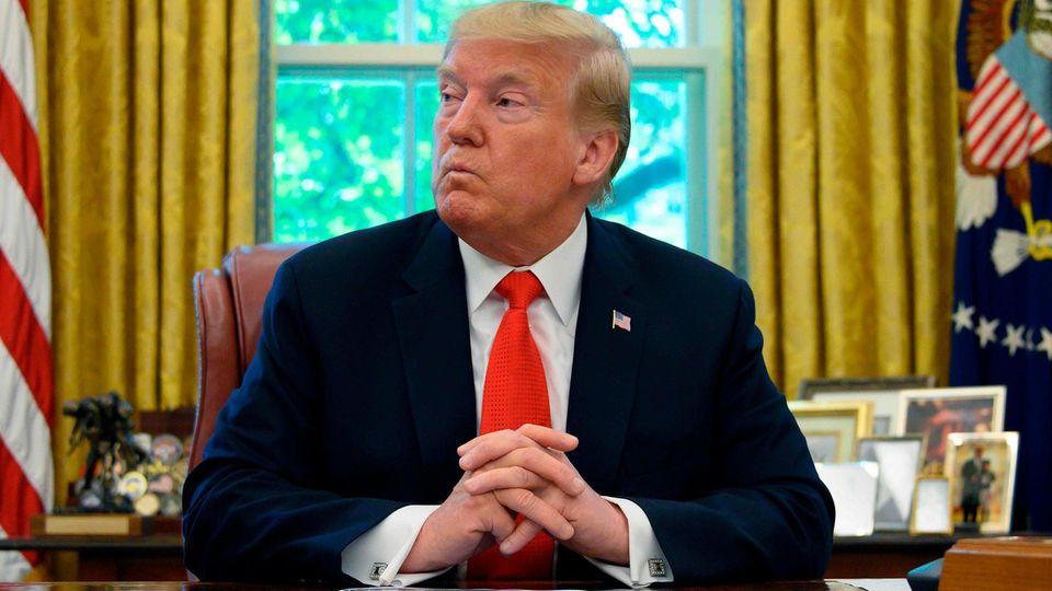 US-Präsident Donald Trump im Oval Office