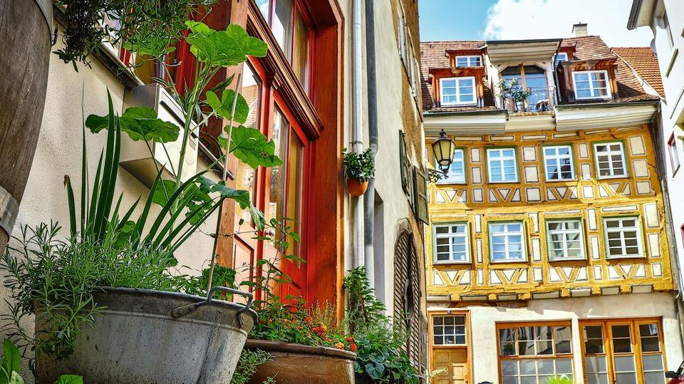 Fachwerkhäuser in Esslingen