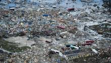 """KleinstadtMarsh Harbour auf den Bahama von Hurrikan """"Dorian"""" verwüstet"""