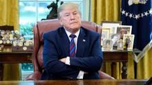 US-Präsident Donald Trump im Oval Office des Weißen Hauses in Washington