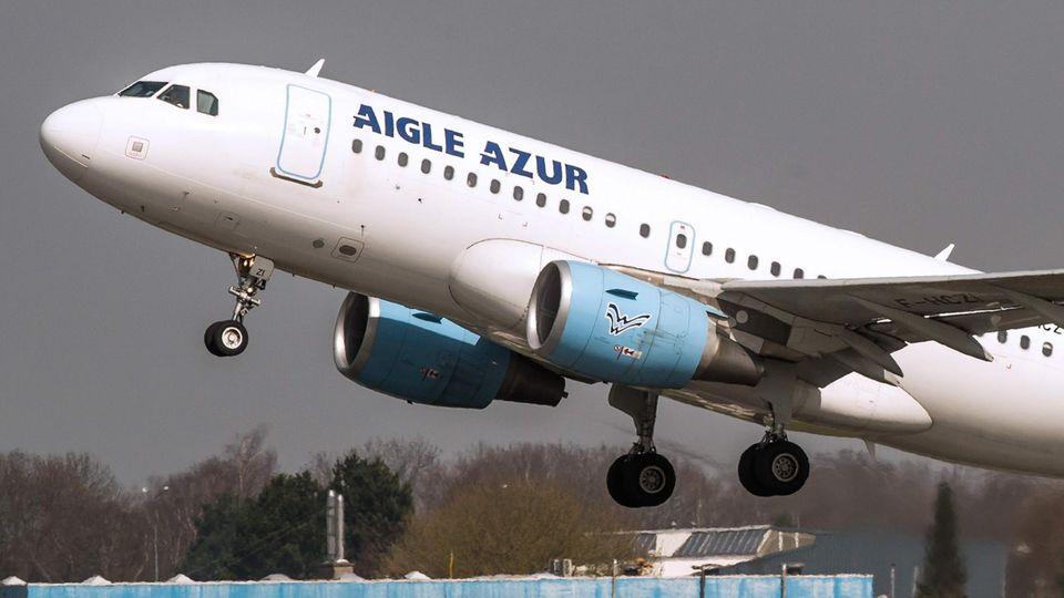Eine Maschine der Pleite-Airline Aigle Azur
