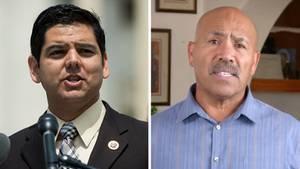Links Raul Ruiz von den Demokraten und rechts Raul Ruiz von den Republikanern