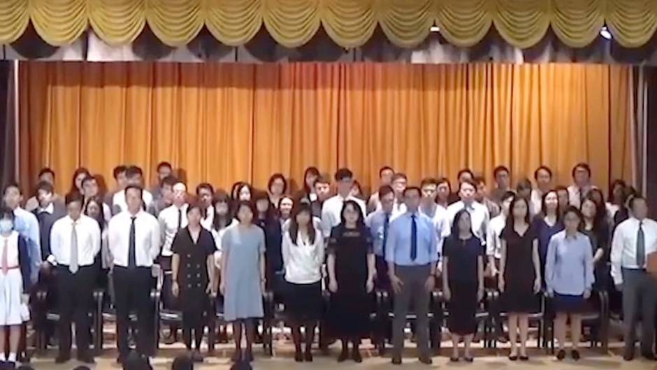 "Musikalischer Protest: Schüler in Hongkong singen ""Les Miserables""-Song statt Nationalhymne – das Video geht viral"