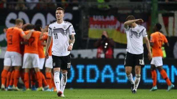Marco Reus aus der deutschen Fußball-Nationalmannschaft während des Spiels