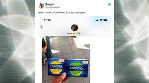 Twitter-Post: Wenn der Mann beim Tampon-Kauf überfordert ist