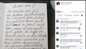 Brief von totem Vater