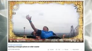 Achterbahn: Neuseeländer fängt während der Fahrt fremdes Smartphone