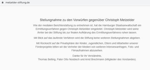 Fall Christoph Metzelder: Vorwürfe, Ermittlungen, Reaktionen