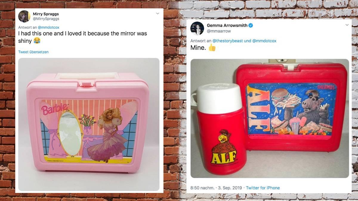 Lunchboxen aus der Kindheit: Zurück in die 90er: Twitter-User zeigen ihre alten Brotdosen – und wecken Erinnerungen