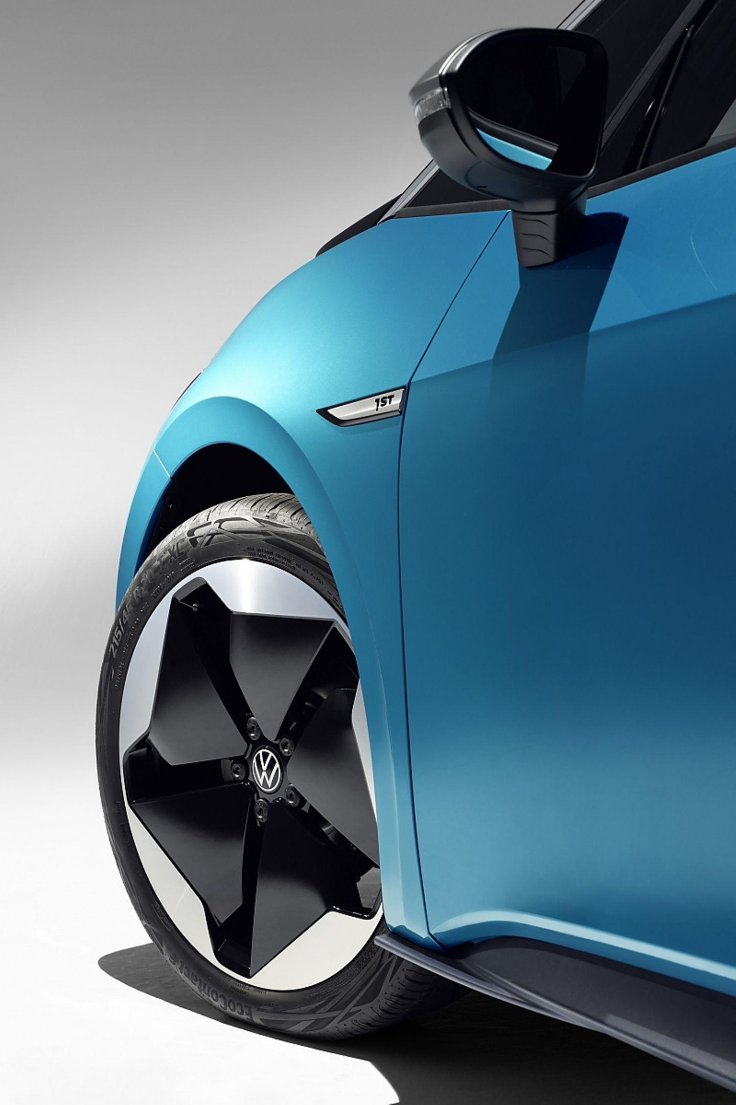 Der VW ID.3 rollt serienmäßig auf 18 Zöllern, optional gibt es auch 19 und 20 Zoll Varianten