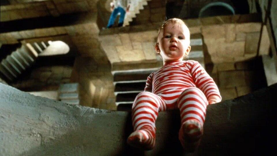 """Toby Froud als Baby im Film """"Die Reise ins Labyrinth"""" von 1986"""