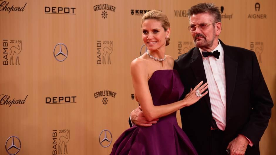 Heidi Klum und Vater Günther waren eigentlich immer ein gutes Team