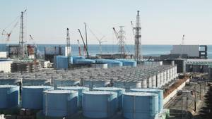 Kühltanks der Tokyo Electric Power Company Holdings Inc.'s in Fukushima
