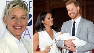 Ellen DeGeneres durfte Archie, den Sohn von Harry und Meghan, kennenlernen