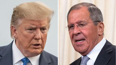 US-Präsident Donald Trump (l.) und der russischeAußenminister Sergej Lawrow