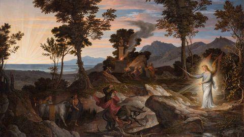 Das Gemälde Landschaft mit dem Propheten Bileam und seiner Eselin