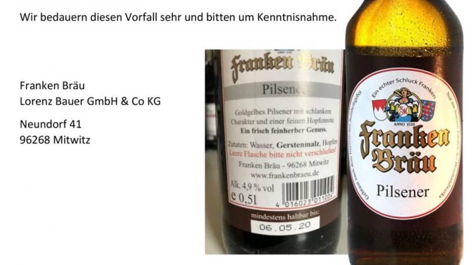 Rückruf Bier Lorenz Bauer
