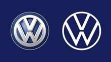 Das alte (l.) und das neue VW-Logo