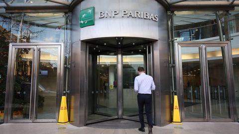 Eine Filiale von BNP Paribas in London
