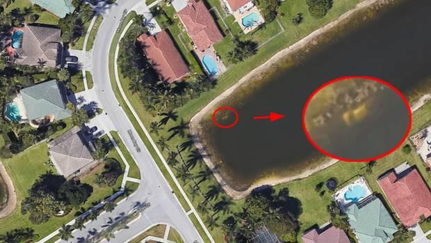Seit 2007 soll das Auto bei Google Maps bereits sichtbar sein. Nun wurde darin eine Leiche gefunden.