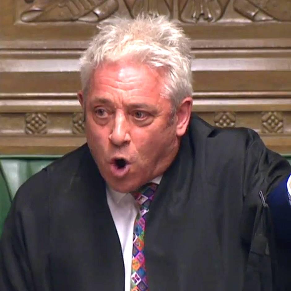 """Brexit-Streit: """"Lassen Sie mich das hier unmissverständlich klarstellen"""": Bercow will Johnson stoppen"""