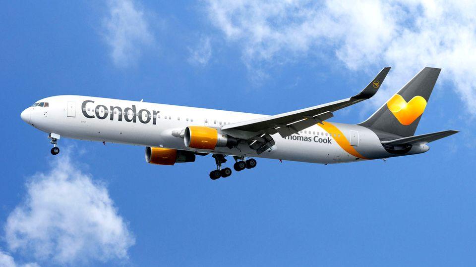 Eine Langstreckenmaschine der Ferienfluggsellschaft Condor (Symbolfoto)
