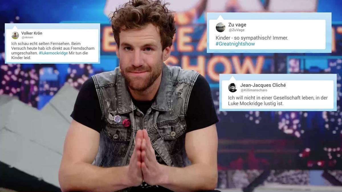 """Twitterreaktionen: """"LUKE! Die Greatnightshow"""" : """"Direkt aus Fremdscham umgeschaltet"""": So kommentieren die Zuschauer Mockridges neue Show"""