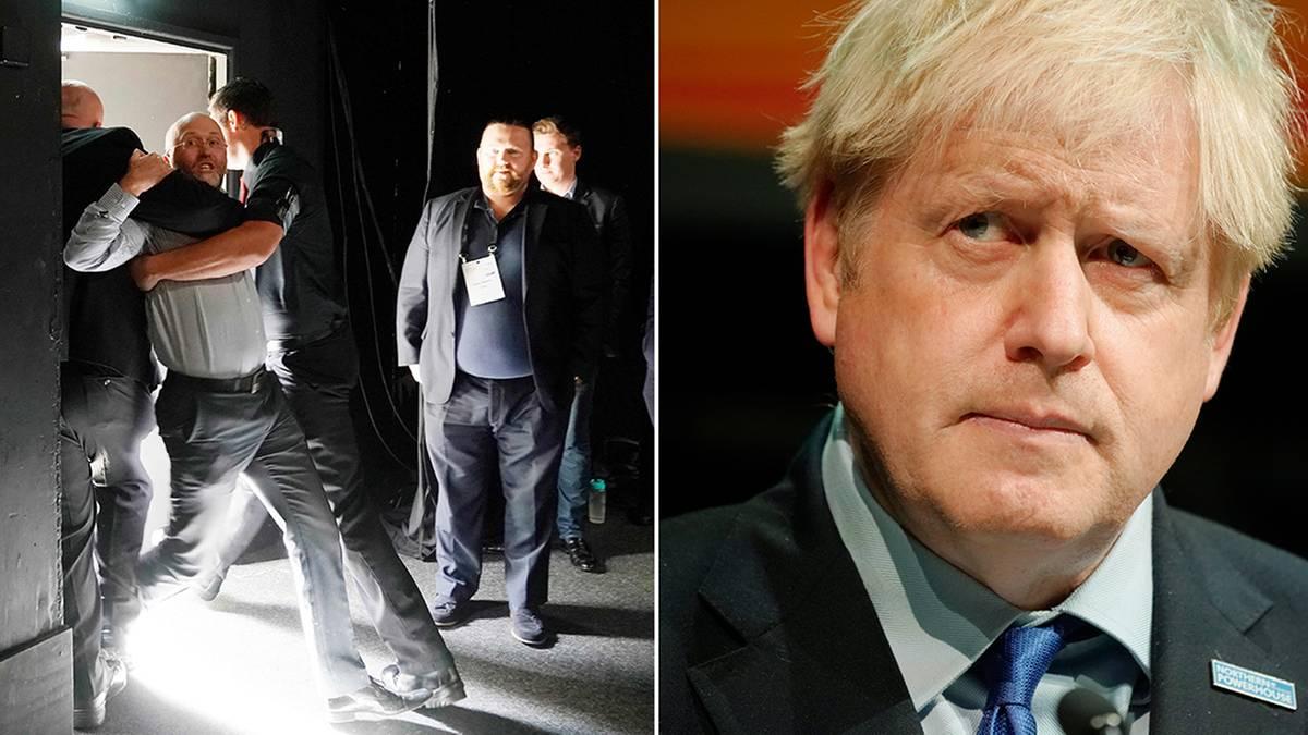 Britischer Premier : Johnson spricht über politische Verantwortung – ein Zuhörer konfrontiert ihn mit seiner eigenen und wird rausgeschmissen