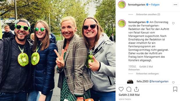 Der Instagram-Account vom ZDF-Fernsehgarten
