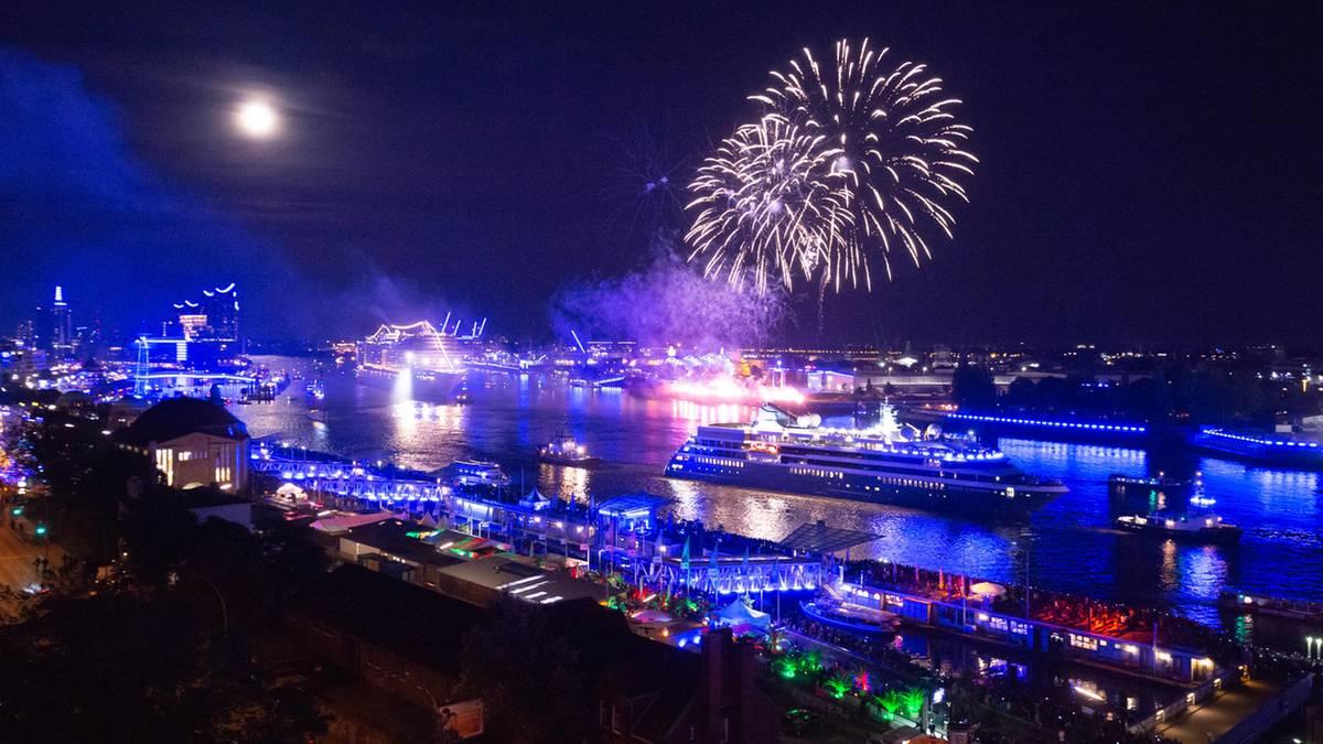 Hafenfest: Kreuzfahrtriesen im Feuerwerk: Das waren die Hamburger Cruise Days