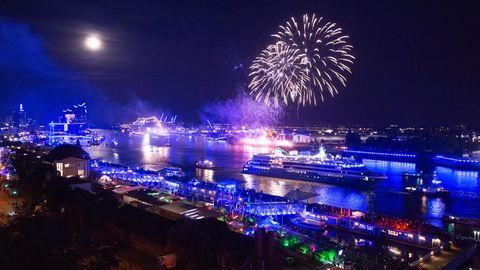 Hamburger Hafenfest: Feuerwerk
