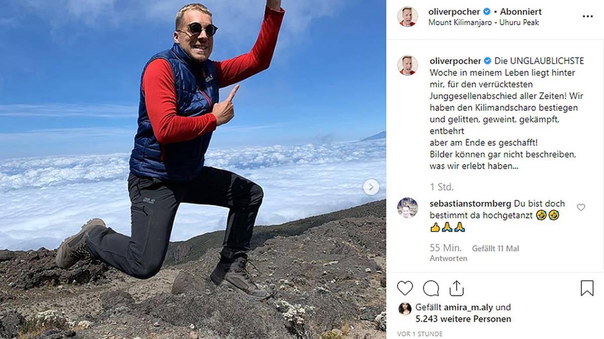 Leute von heute: Oliver Pocher feiert Junggesellenabschied auf dem Kilimandscharo