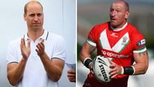 Prinz William würdigt Sportler Gareth Thomas für seinen Mut, seine HIV-Infektion öffentlichzu machen