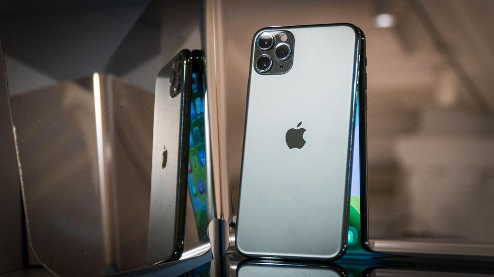 Drei Kameras undein mattgrünes Gehäuse: das neue iPhone 11 Pro Max