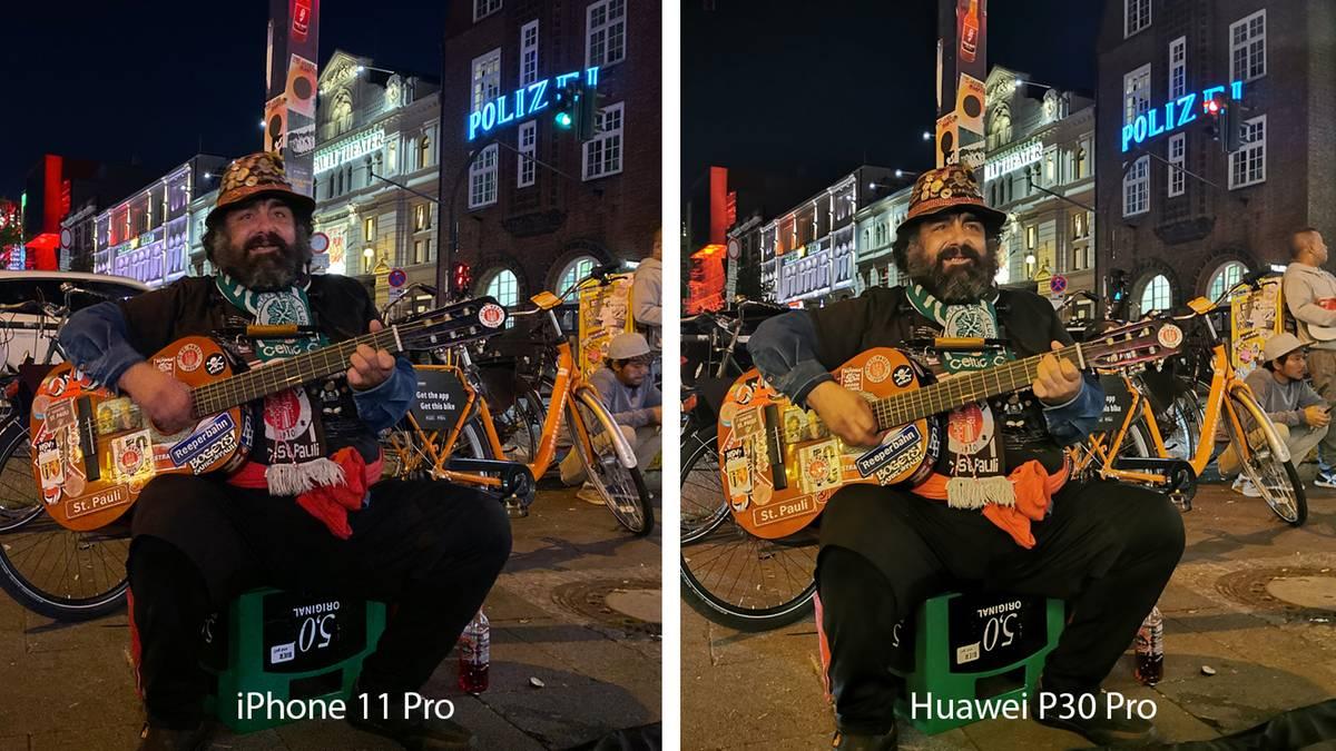 Foto-Duell: iPhone 11 vs. Huawei vs. Samsung: Wer knipst nachts die besseren Bilder?
