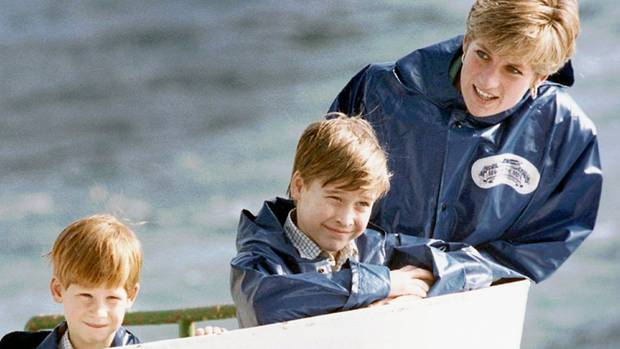 Prinzessin Diana, Prinz William, Prinz Harry