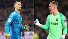 Bahntsich da ein neuer Torwart-Zoff an? Manuel Neuer (l.) und Marc-André ter Stegen