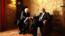 Boris Johnson (l.) und Jean-Claude Juncker bei einem Treffen in Luxemburg