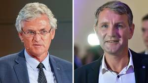 ZDF-Chefredakteur Peter Frey, AfD-Politiker Björn Höcke