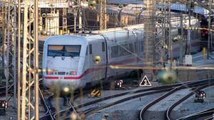 Ein ICE-Zug der Deutschen Bahn
