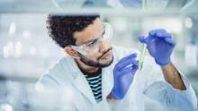 Forschung im Kampf gegen Krebs: Ein Mann arbeitet in einem Labor