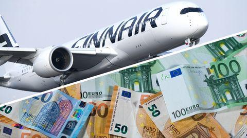 """In einem Flugzeug der """"Finnair"""" wurden mehr als 400.000 Euro gefunden"""