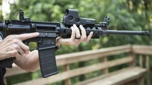 Medienberichten zufolge ist der Hausbesitzer in Georgia im Besitz eines halbautomatischen Gewehres