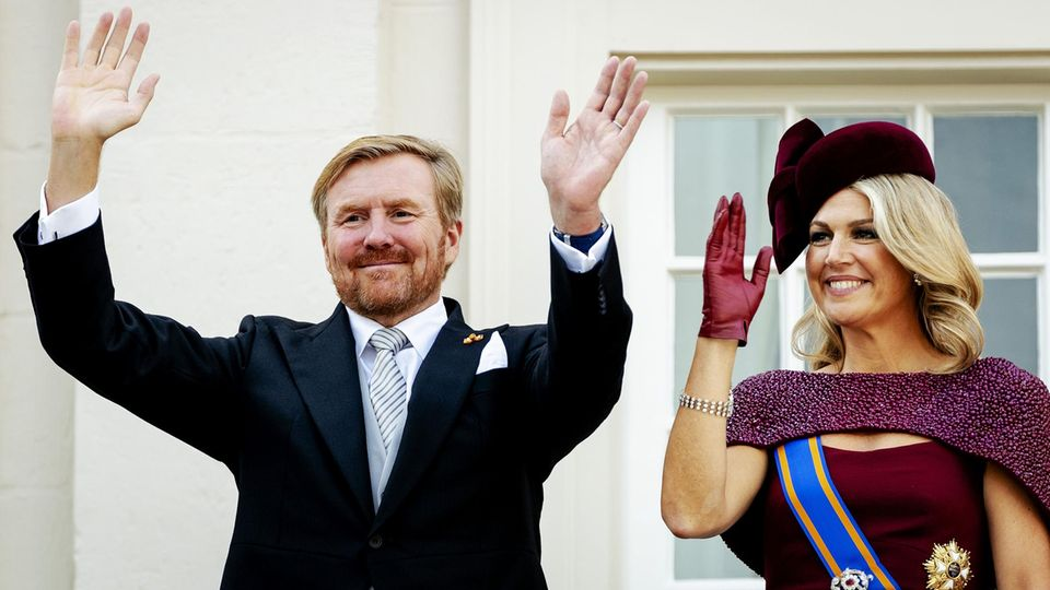 König Willem-Alexander und Königin Máxima bei der Eröffnung des Parlaments