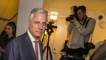 Robert O'Brien in Stockholm während der Gerichtsverhandlung von ASAP Rocky