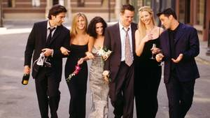 Friends: David Schwimmer, Jennifer Aniston Courteney Cox, Matthew Perry, Lisa Kudrow und Matt LeBlanc
